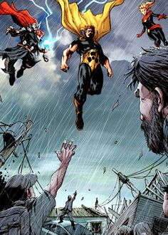 "Avengers World #1 | ""Hyperion, Thor and Captain Marvel are our first responders."""