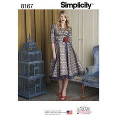 d55255264ed10c Pattern 8167 Misses  Sew Chic Dress Simplicity Patterns