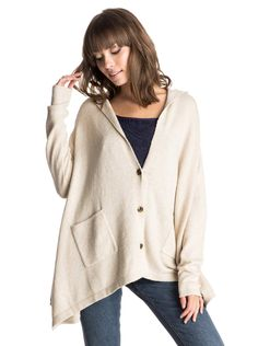 roxy, Changing Channels - Cardigan, METRO HEATHER (tenh)