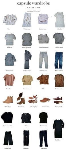Winter 2018 Capsule Wardrobe - Style This Life