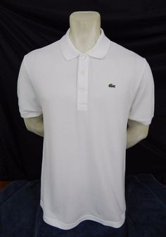 Lacoste Polo Shirt Size 9 XL New With Tags White Cotton Short Sleeve #Lacoste #PoloRugby SOLD