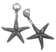Orecchini pendenti in argento by Giovanni Raspini. Riproducono perfettamente una stella marina!
