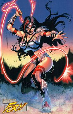 Wonder Woman New 52 | Fury is unleashed. From Earth 2 #8 (2013); art by Yildiray Cinar.