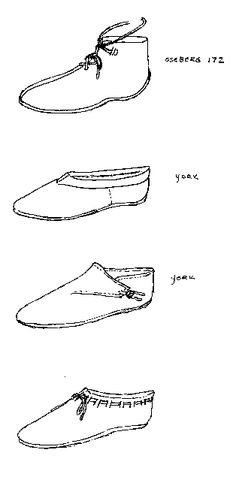 """last pinner wrote: """"""""Shoes in Greenland: A comparison to shoes and shoemaking on the Continent. GO HERE, this is an awesome page if you want to know about shoes! Viking Shoes, Viking Clothing, Historical Clothing, Viking Footwear, Viking Reenactment, Viking Costume, Fairy Tale Costumes, Shoe Pattern, Viking Age"""