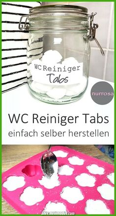 WC Reiniger Tabs DIY Anleitung WC Reiniger Tabs ganz einfach selber selber mache… Toilet cleaner tabs DIY instructions easily make your own plastic-free tabs yourself Diy Home Cleaning, Cleaning Hacks, Toilet Cleaning, Wc Tabs, Wc Decoration, Diy Home Crafts, Smudge Sticks, Diy Hacks, Clean House