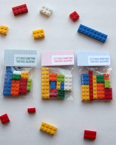 free printable valentines- 'let's build something together' lego labels
