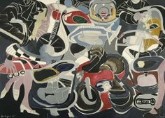 Grace Hartigan (American, 1922-2008), Modern Cycle, 1967. Oil on canvas, 78 ½ x 108 ½ in.