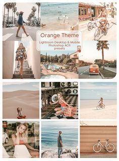 Orange Theme Lightroom Mobile Filters #lightroom #instagram #presets #blogger #photography #influencer #ad #filters