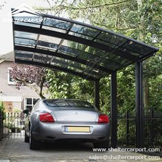 Polycarbonate carport provides comprehensive protection as well as long service years. sales@sheltercarport.com  0086 139 2885 0907 https://www.sheltercarport.com/product/alu-carport-with-curved-polycarbonate-panel/ #carportforsale #carparkingshade ##carshed