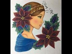Pintura En Tela Rostro Con Nochebuenas # 1 Con Cony - YouTube