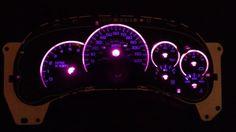 GM LED Pink 9pc Light Kit Gauge Cluster Speedometer Tahoe GMC Yukon Escalade GMC   eBay