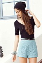 high rise lace shorts I want these !!! Omg