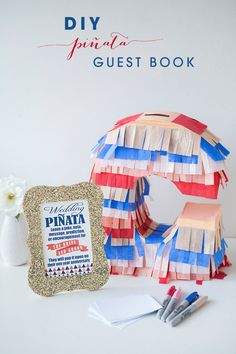 How to make a unique piñata guest book with the Fringe Cutter from #marthastewartcrafts #12monthsofmartha