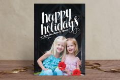 Simple Flourish Holiday Photo Cards by Lisa Woodard at minted.com
