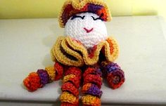 Spiral Doll  Colorful Clown  Clown Doll  by MainelyHandcrafts, $21.95
