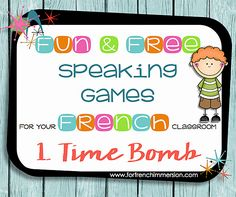 Speaking a new language is hard, but games can make it easier. Check out this first game in the series of fun speaking games for your French classroom! French Learning Games, French Language Learning, Ways Of Learning, Teaching French, Teaching Spanish, Spanish Language, Japanese Language, French Games For Kids, Preschool Spanish