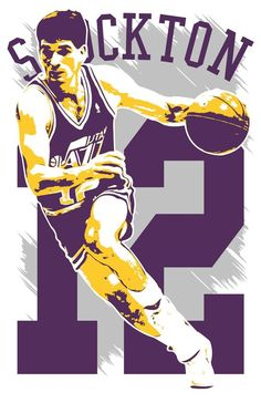 ***JOHN STOCKTON art print by artist Kyle Millar*** *ABOUT* -Printed on high-quality premium cardstock, this great John Stockton art print will stand the test of time as only archival quality inks are used. -Frame(s) are NOT included. Drew Lock, John Stockton, Gary Sanchez, Nba Wallpapers, Pro Basketball, Utah Jazz, Boston Red Sox, New York Yankees, Free Shipping