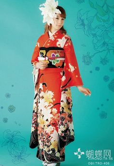 Reina Triendl in 'coming of age' furisode.  Japan