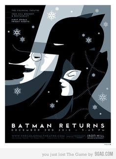 Art deco poster for Batman Returns (1992).