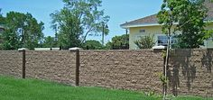 """Look at this secure and protective wall create by the """"BOB"""" the wall builder This exemplifies the need for a wall on your border! Outdoor Sofa, Outdoor Furniture, Outdoor Decor, Compound Wall Design, Front Fence, Brick Block, Block Wall, House Entrance, Beach House"""
