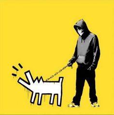Banksy Yellow Barking Dog