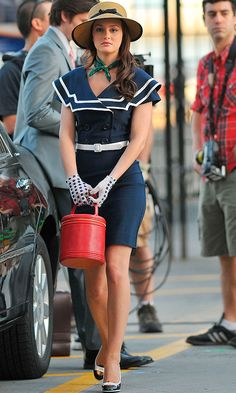 Leighton Meester As Blair Waldorf In This Nautical Sailor Inspired Outfit - Oozing With Style As Usual, 2008