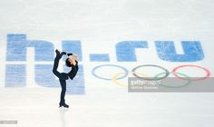 Figure skater Yuzuru Hanyu of Japan practices ahead of the Sochi 2014 Winter Olympics at the Iceberg Skating Palace on February 5, 2014 in Sochi, Russia.