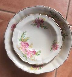 J G Mealin England Dessert Bowl Larger 4 Smaller Bowls Crazed Orchid | eBay