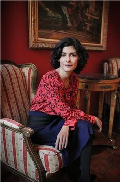 Audrey Tautou clothed like an angel. Audrey Tautou, French Girl Style, French Chic, Amelie, Gamine Style, Charlotte Rampling, Sartorialist, French Actress, Grunge Hair