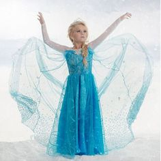 Vestido azul invierno nieva