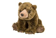 The powerful grizzly bear has never been cuter than this 12-inch stuffed grizzly Cuddlekin. With a huggbly soft coat of silky brown fur, this bear sits on his haunches waiting for adventure to strike. Bring him home today to feel a bear hug at its best!