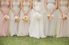 Mismatched bridesmaids for the win!