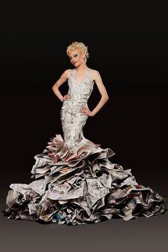 literary fashion vol. IX  newspaper couture