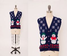 Vintage 1980s Ugly Christmas Sweater Vest • Revival Vintage Boutique by RevivalVintageBoutiq on Etsy