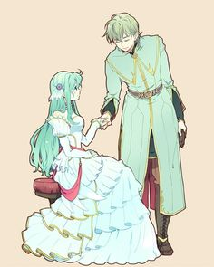 """""""And I shall forever remain by your side, Queen Eirika..."""" (Innes/Eirika) : FireEmblemHeroes"""