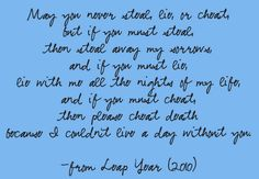 steal, lie, cheat quote