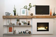 fireplace Imagine that but in the opposite direction for our heating wall place! I like this