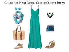 Colorful Maxi Dress Cruise Outfit
