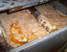 """This grease trap is the reason we have compliance officers. The fats, oils, and grease entering this """"bad boy"""" go directly to the sanitary sewer. What is the cost of a sanitary sewer overflow? Septic System, Hotel Supplies, Septic Tank, Odor Eliminator, Pumping, Grease, Singapore, Restaurant, Cleaning"""