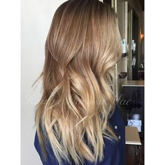 Sandy blonde tones and waves