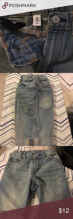 Gap Kids jeans shirts Cuffed Jean shorts. Smoke free home. No stains. Worn twice. Open to offers. GAP Bottoms Shorts