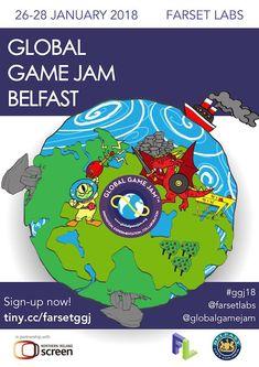 Poster showcase 2018 | Global Game Jam® Poster Creator, Game, Gaming, Toy, Games