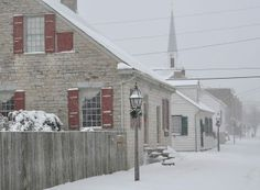 Merchant Street on January Ste. Ste Genevieve, French Colonial, Snow Days, Famous French, Colonial Architecture, The Good Old Days, Reception Decorations, Old Town, St Louis