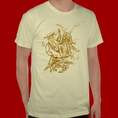 Shop Gold Samurai T-Shirt created by Personalize it with photos & text or purchase as is! Tattoo T Shirts, American Apparel, Samurai, Fitness Models, How To Make, How To Wear, Unisex, Stylish, Fabric
