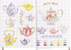 ru / Фото - EngingerV_Chocolat_The_Cafe_ 2009 - Los-ku-tik Cross Stitch Kitchen, Mini Cross Stitch, Beaded Cross Stitch, Cross Stitch Charts, Cross Stitch Patterns, Embroidery Art, Cross Stitch Embroidery, Embroidery Patterns, Le Point