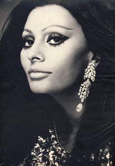 Sophia Loren photographed by Chris von Wangenheim, 1970.