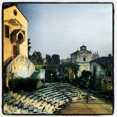 Ruins among ruins, the Roman Teatro, Verona