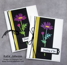 Awesome high-contrast using StampinUp Rainbow Glimmer Paper gives an eye'catching contrast for the Quiet Meadow Dies from Stampin'Up die set. This glitter paper card is stunning with its bright colors for the daisy die. #stampinup Blog Images, Black Paper, High Contrast, Bright Colors, Stampin Up, Daisy, Glitter, Rainbow, Eye