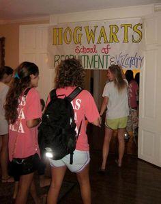 hogwarts school of recruitment & wizardry - a fun theme idea for spirit week!