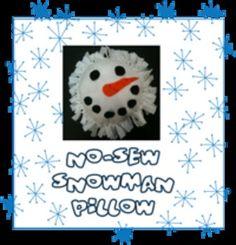 Christmas Craft: No-Sew Snowman Pillows